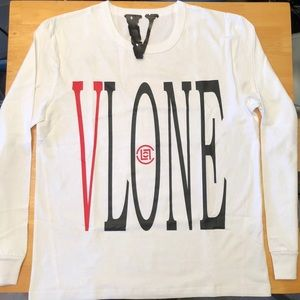 Vlone x Clot Dragon White Long Sleeve T Shirt